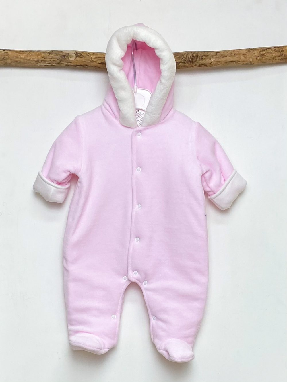 Pink Lined Hooded Pramsuit