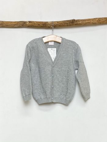 Grey Stitch Detail Cardigan