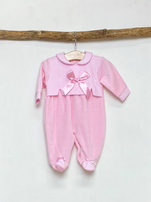 Pink Bow Overall Sleepsuit