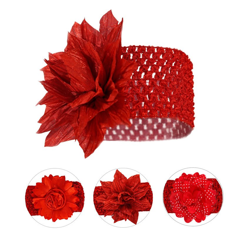 Red Large Floral Headbands