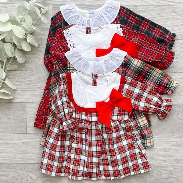 Plaid & Tartan Bow Dresses