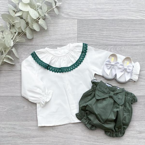 Blouse & Forest Green Bloomers 2