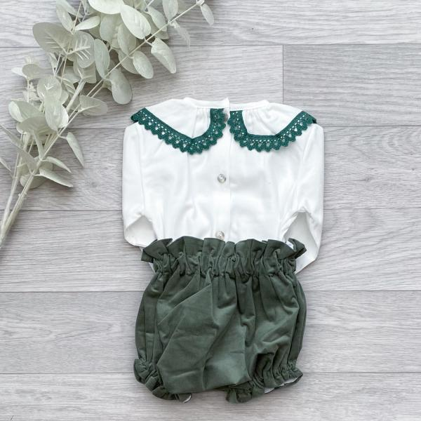 Blouse & Forest Green Bloomers 3