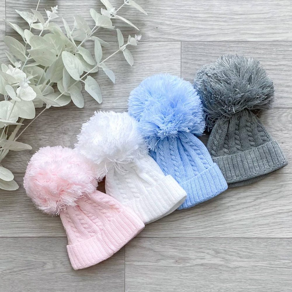 1st size cable pom hats