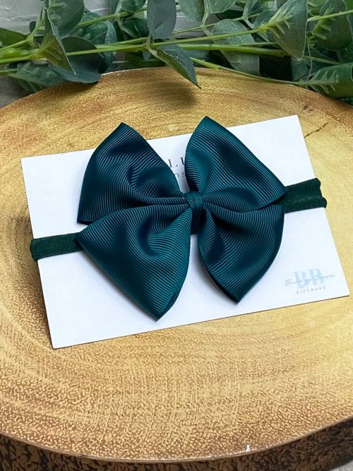 Emerald Large Grosgrain Hair Bow