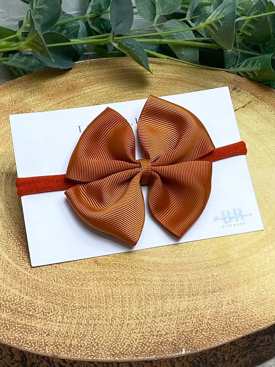 Rust Large Grosgrain Hair Bow