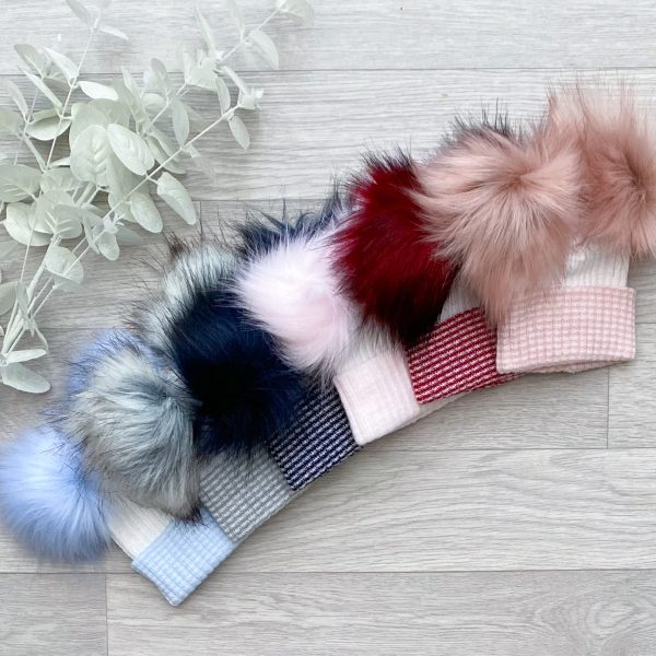 large double pom hats
