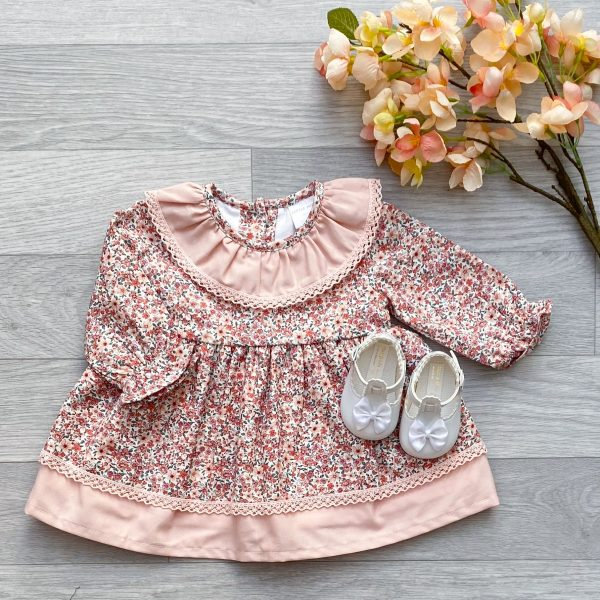 Light Salmon Pink Floral Dress