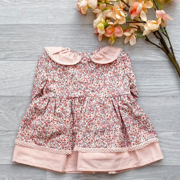 Light Salmon Pink Floral Dress 2