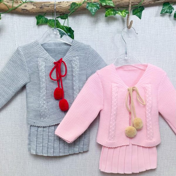 Knitted Dungaree Skirt Set