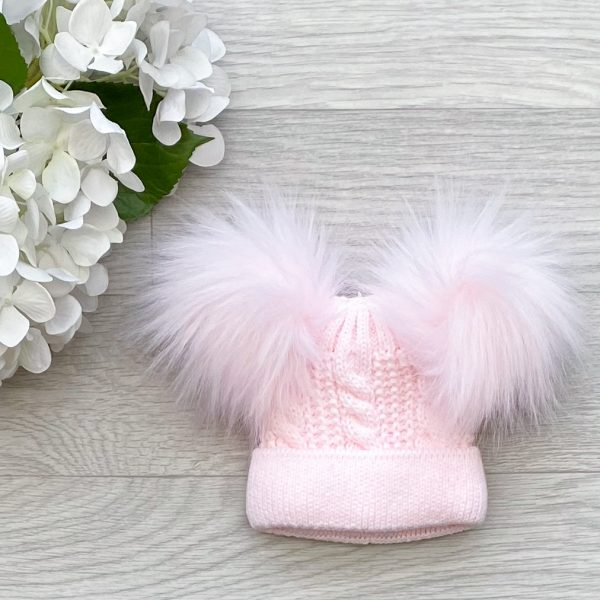 Pink Sonata Double Pom Hat
