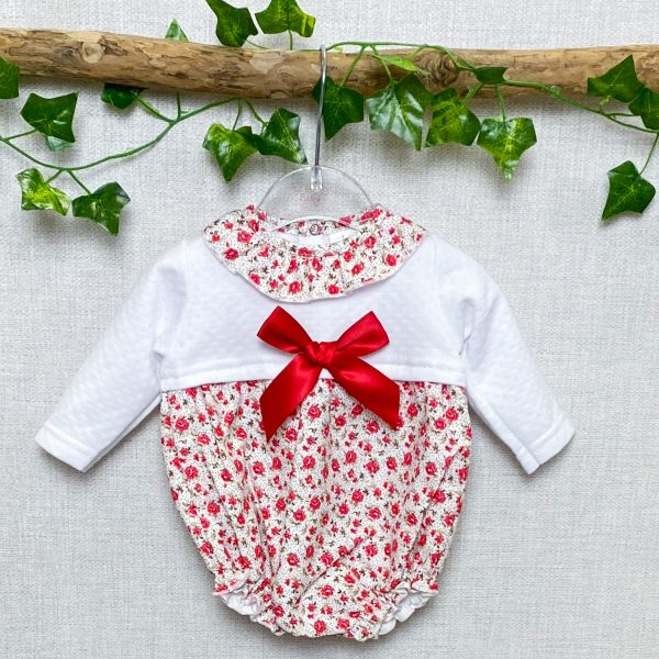 White & Red Floral Shortie