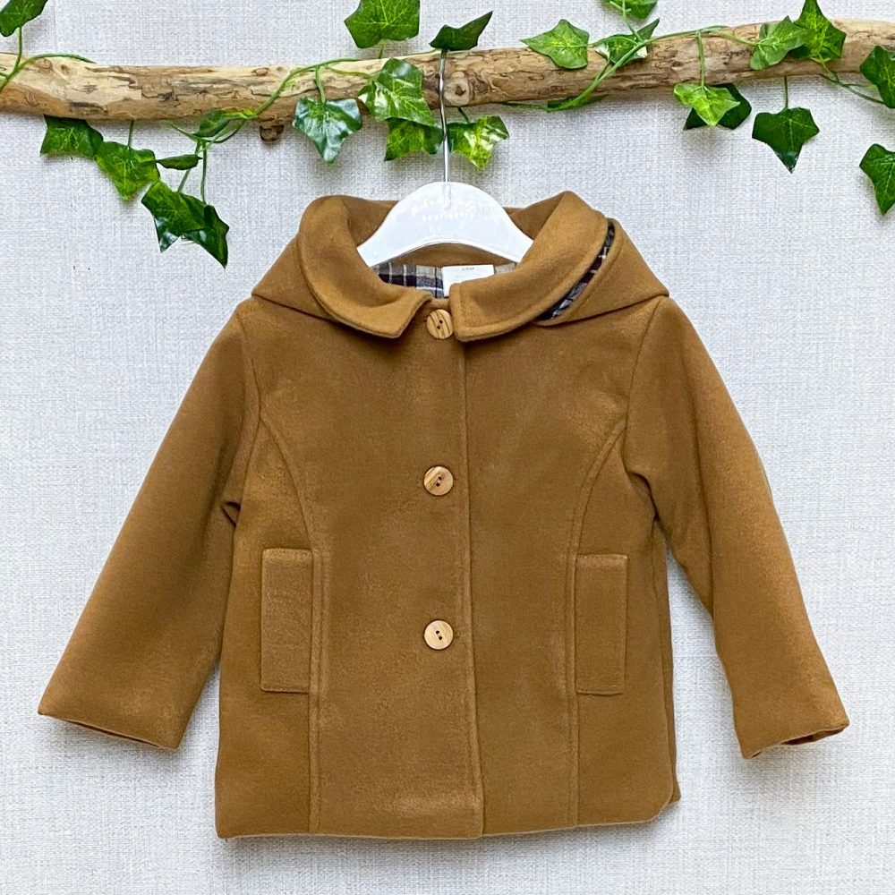 Classic Camel Hooded Coat