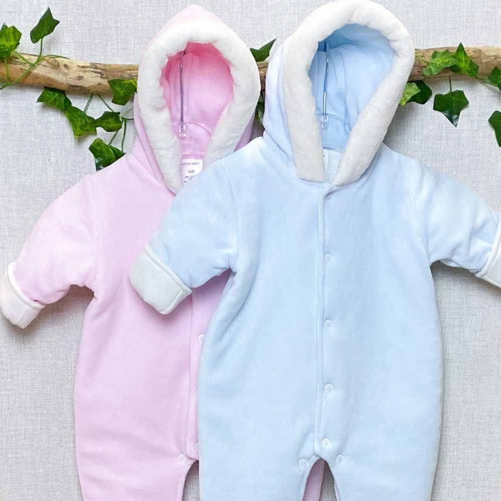 lined hooded pramsuits