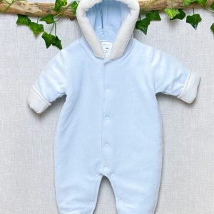 Blue Lined Hooded Pramsuit