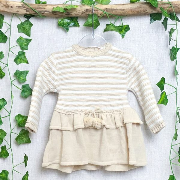 Sand Knitted Jacket & Dress Set 2