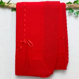 Red Ribbon Shawl