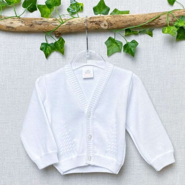 White Stitch Detail Cardigan - Love Lully
