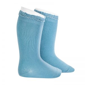 Cloud Lace Ruffle Knee High Socks