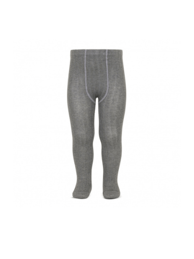 Light Grey Wide Ribbed Tights