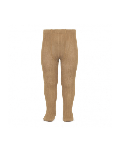 Camel Wide Ribbed Tights