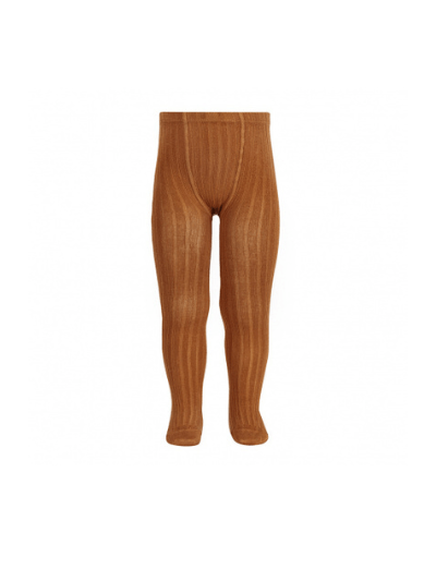Rust Wide Ribbed Tights