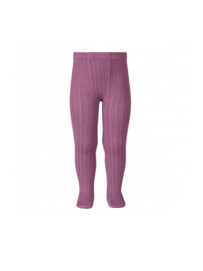 Cassis Wide Ribbed Tights