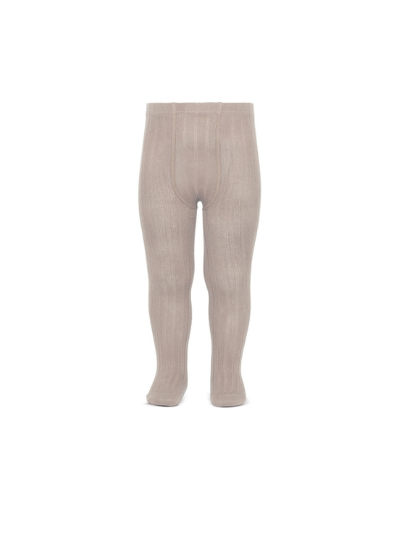 Stone Wide Ribbed Tights