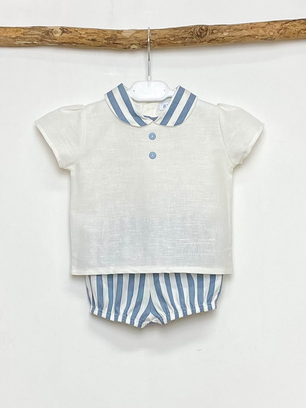 Shirt & Denim Blue Candy Stripe Jam Pants