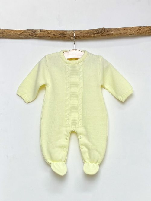 Lemon Cable Knitted Onesie