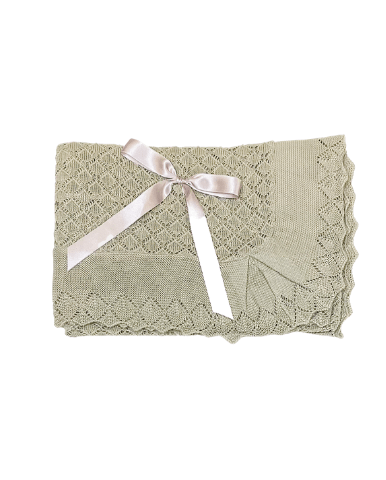 Beige Diamond Bow Shawl
