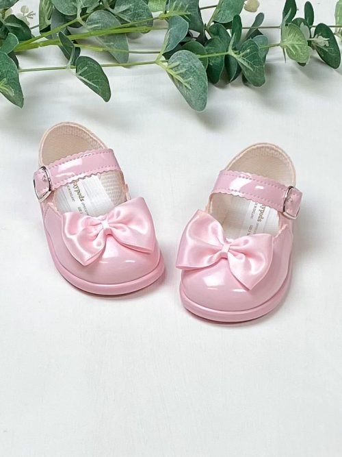 Pink Patent Bow First Walkers