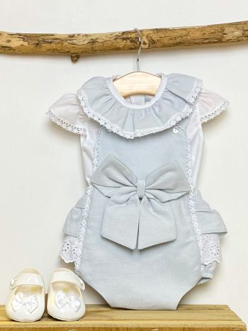 Blouse & Grey Bow Shortie
