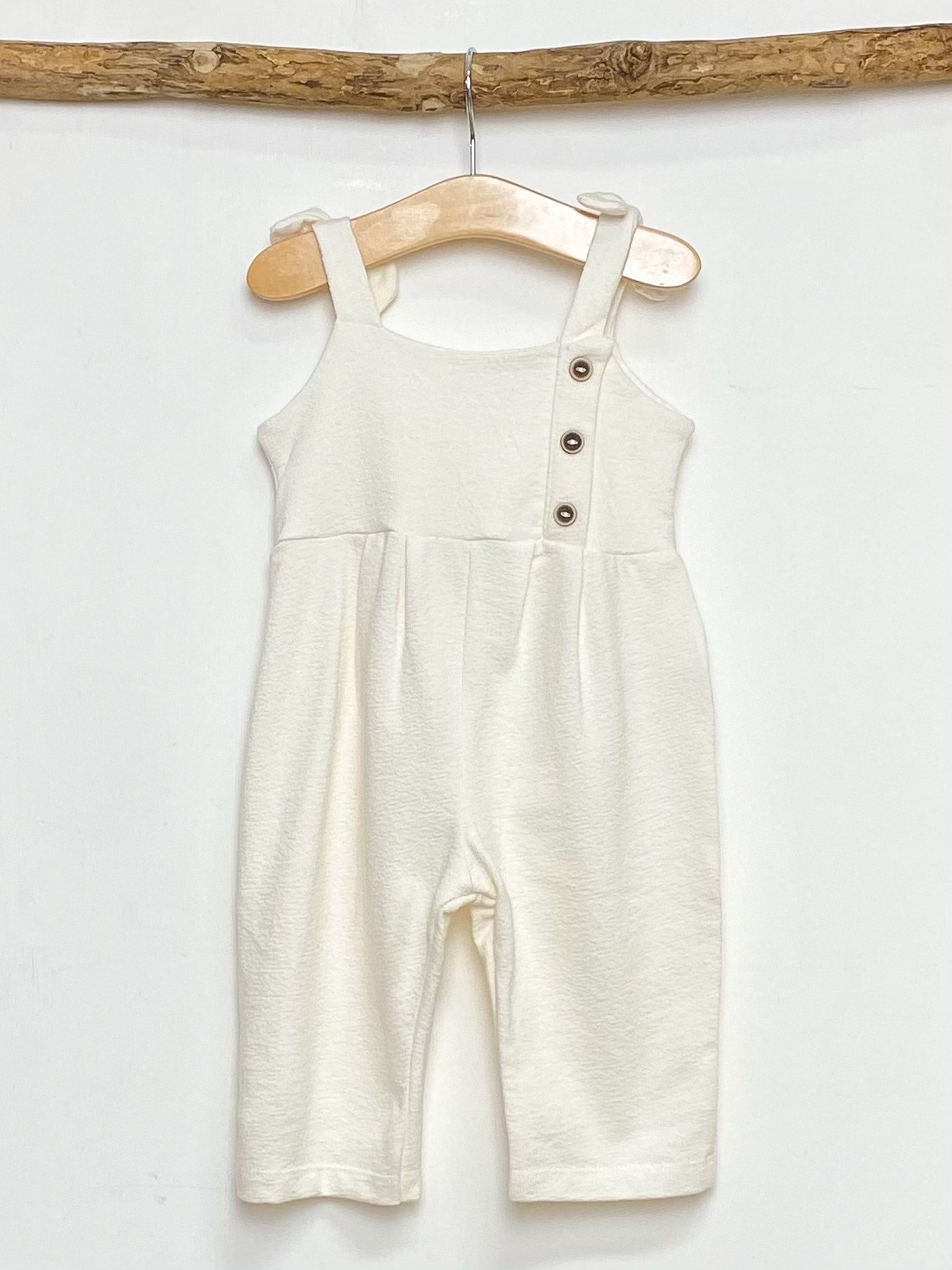 Ecru Strapped Jumpsuit