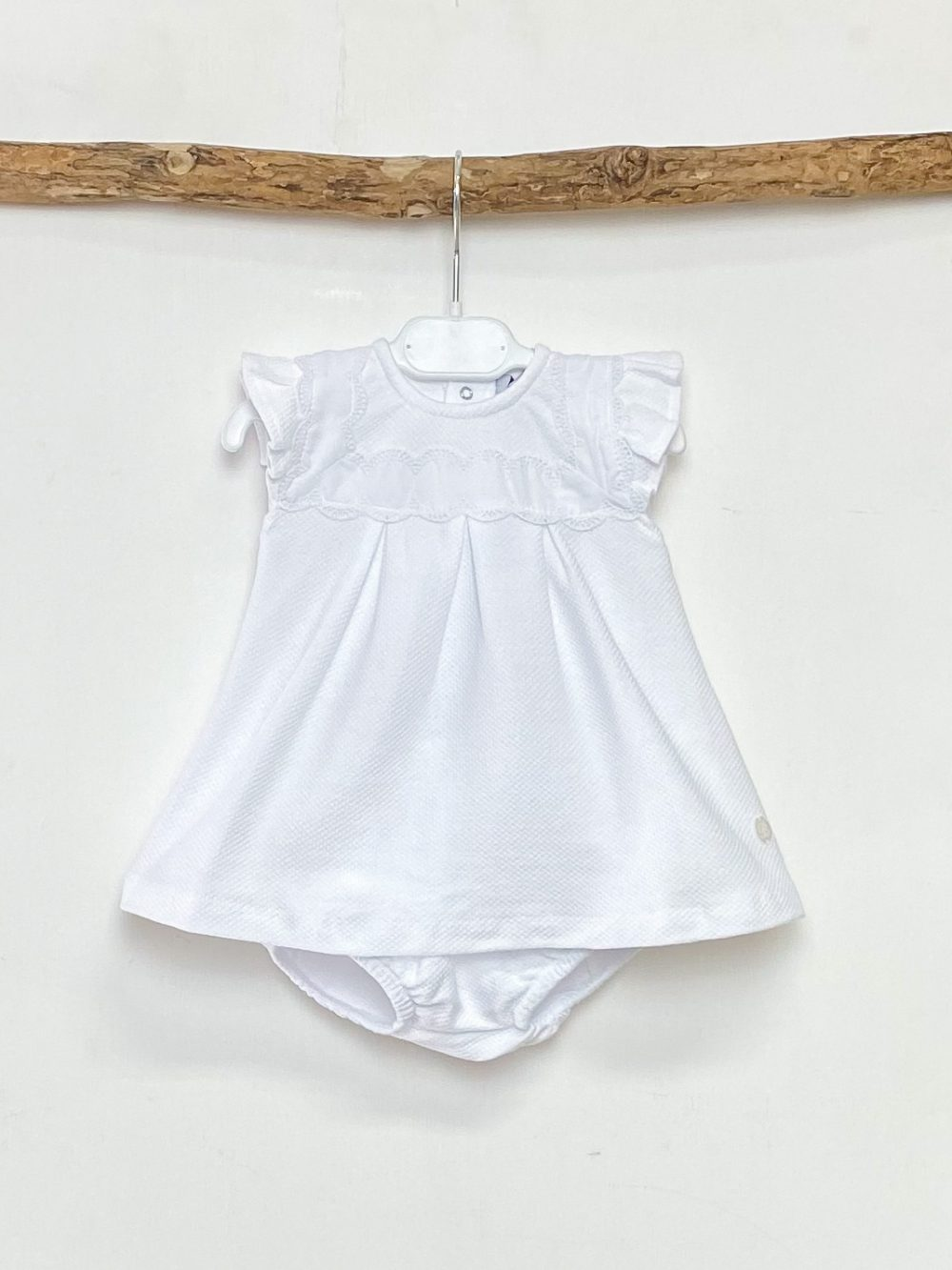 White Broderie Top & Jam Pants