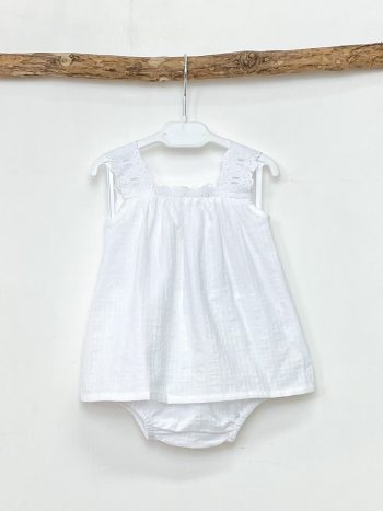 Broderie Anglaise Top & Bloomers