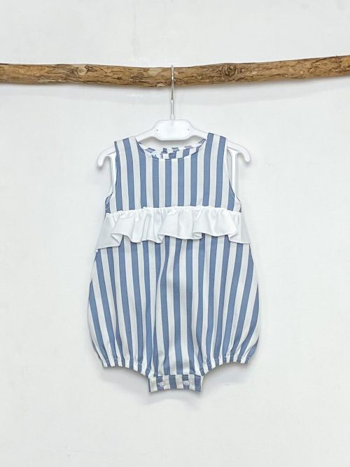 Denim Blue Candy Stripe Shortie