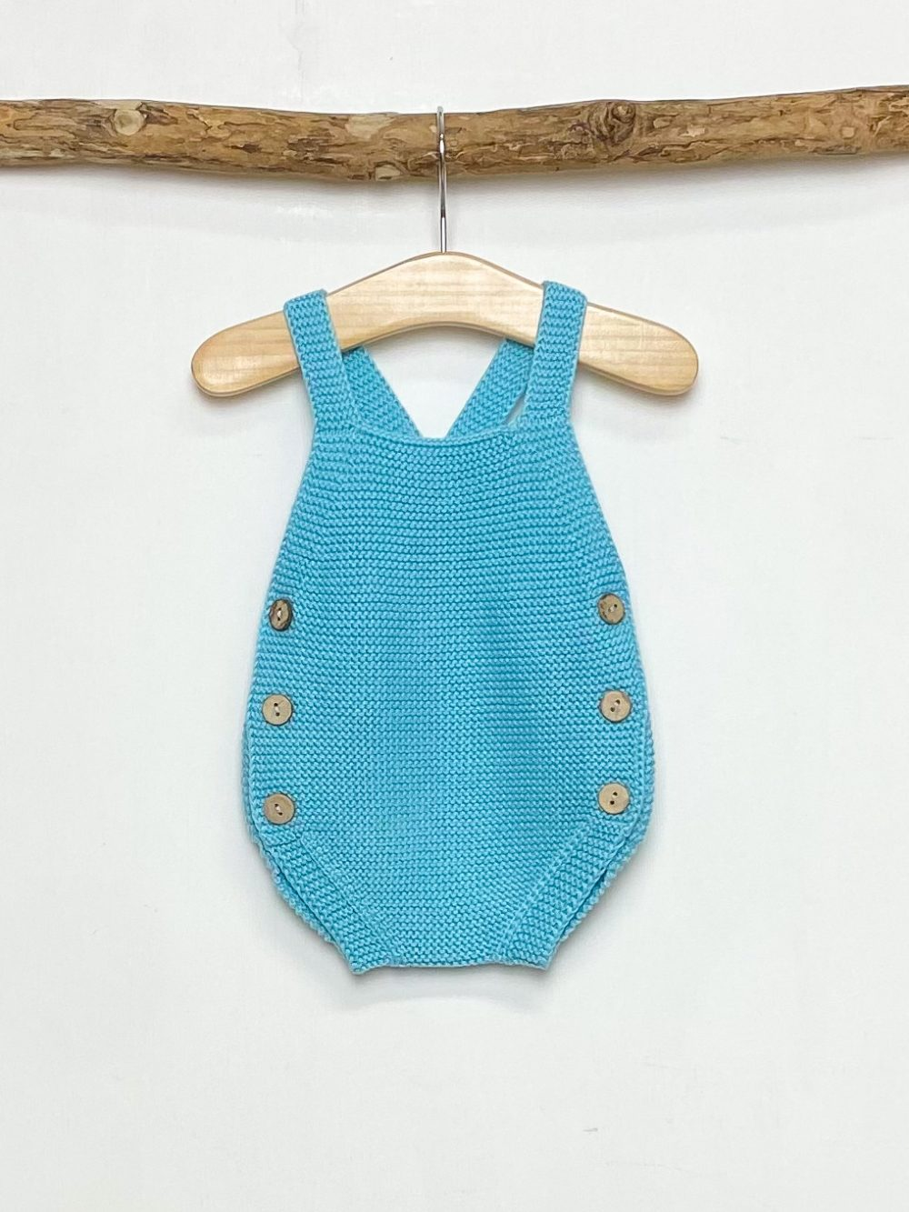 Knitted Turquoise Romper