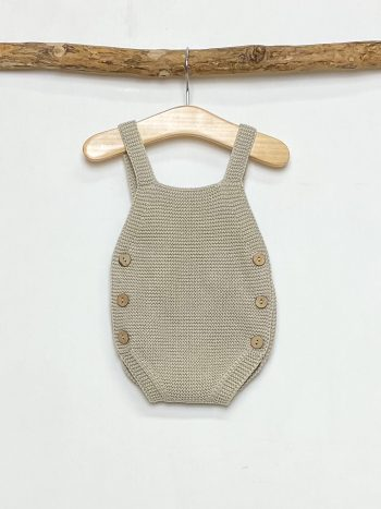 Knitted Camel Romper