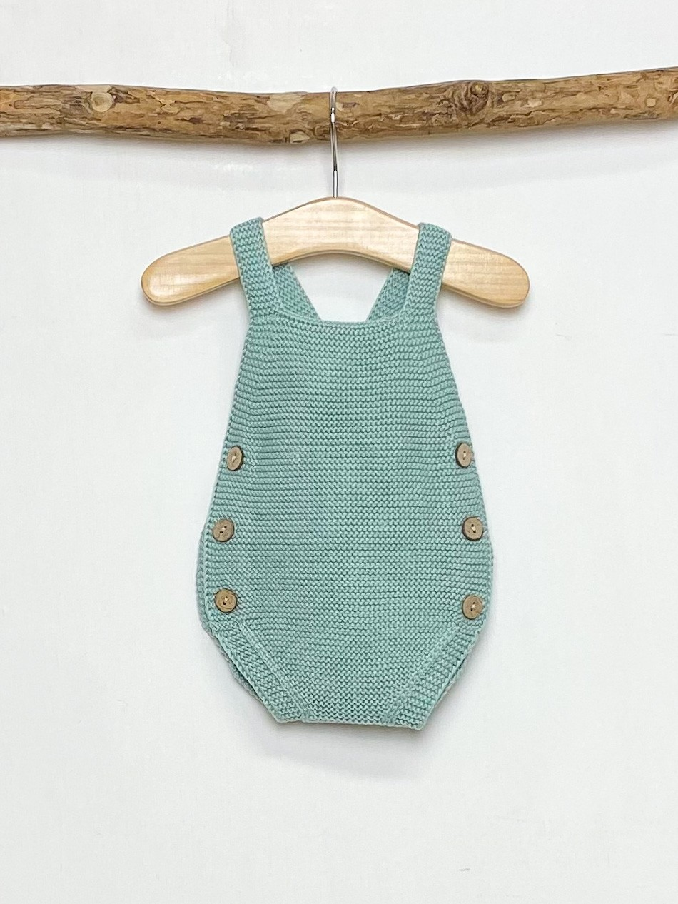 Knitted Green Romper