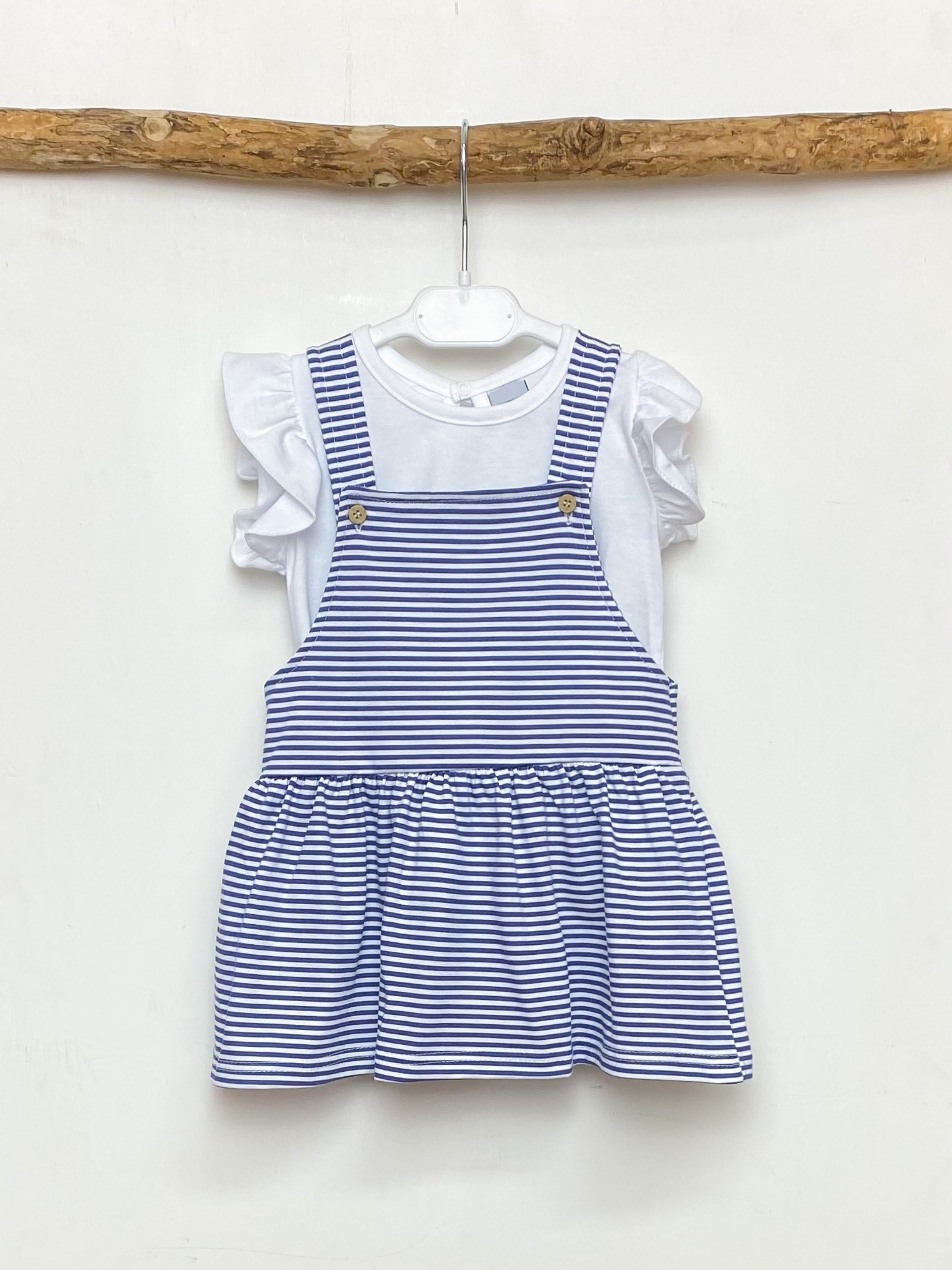 Blouse & Navy Stripe Dress