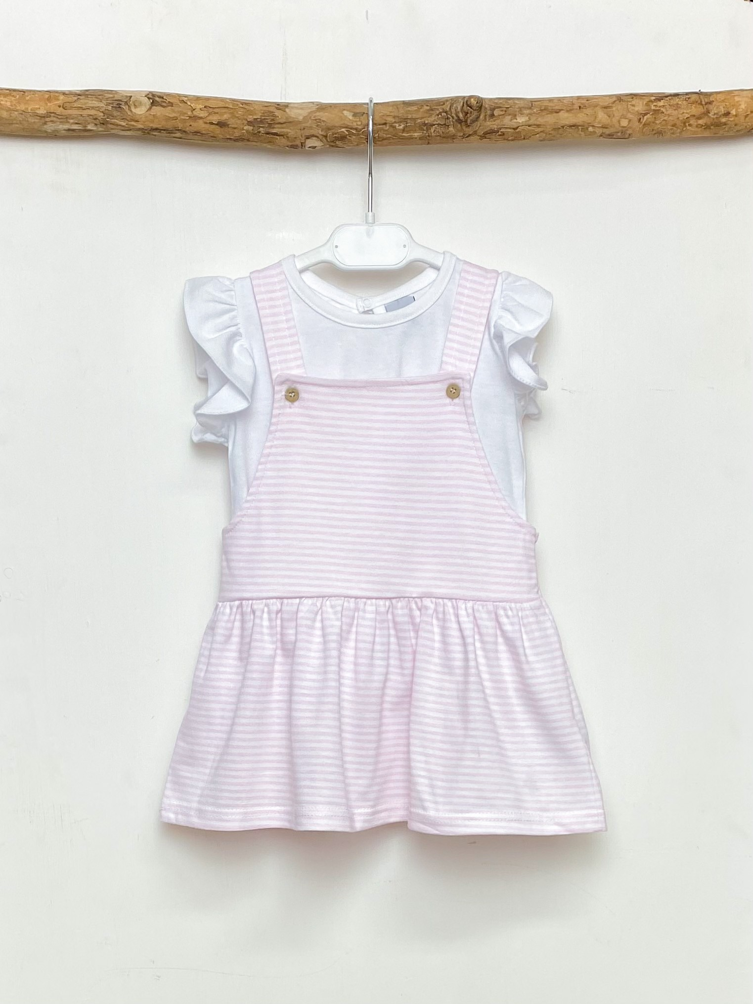 Blouse & Pink Stripe Dress