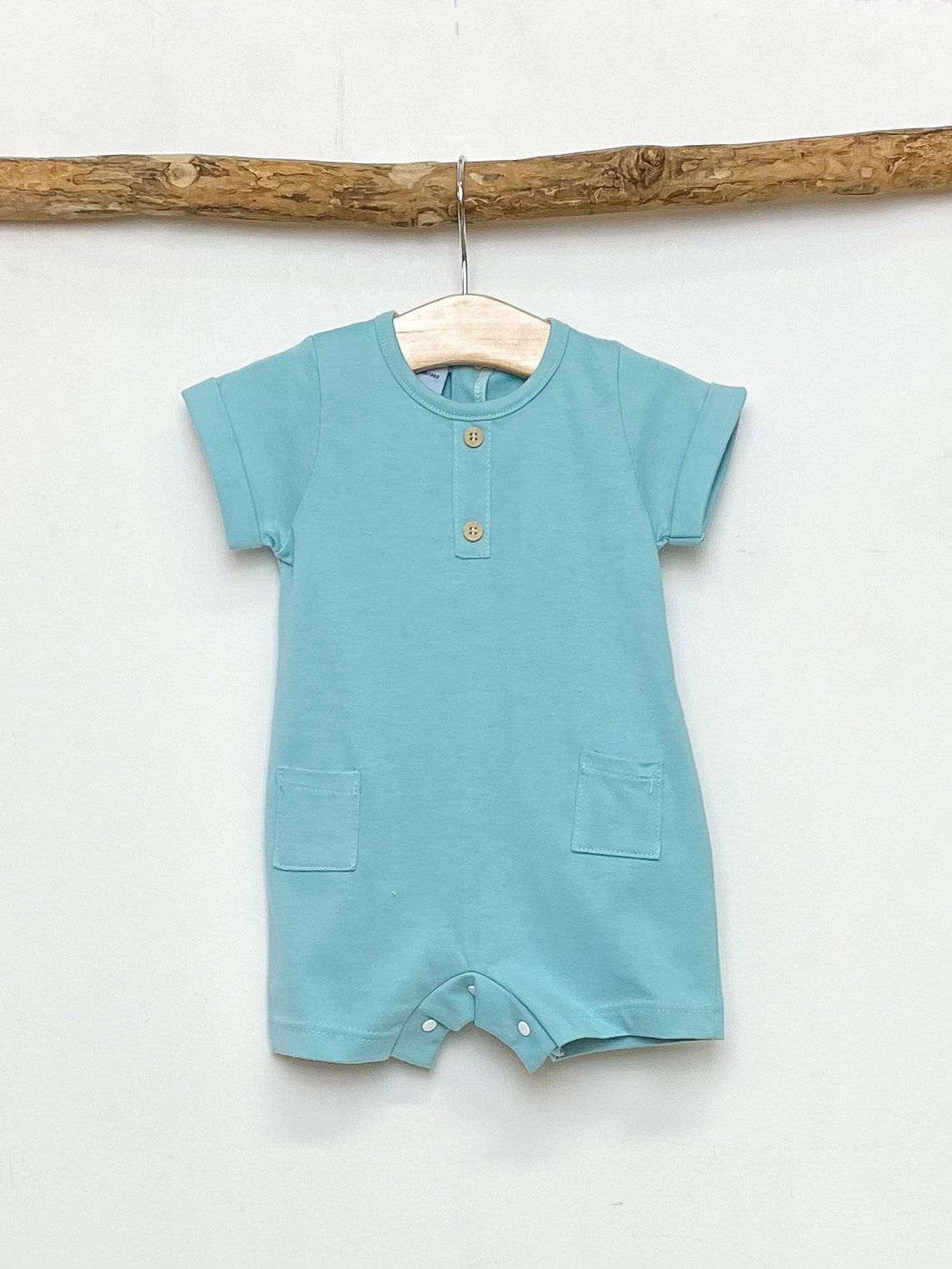 Jade Green Pocket Romper