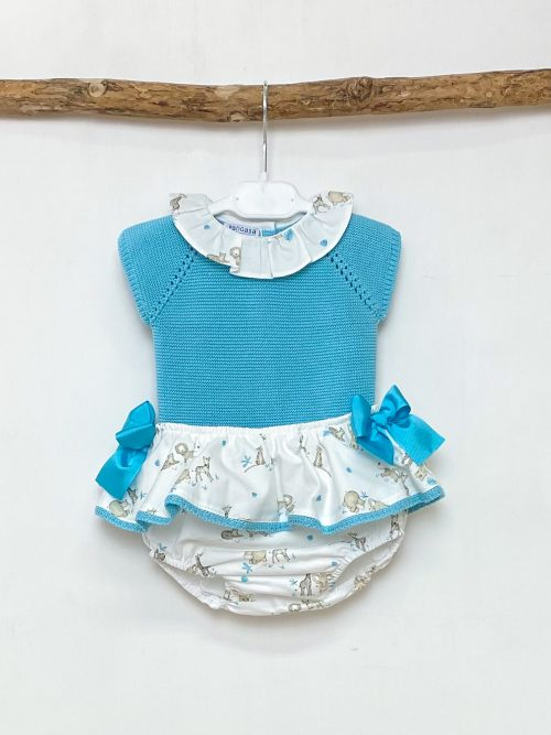 Turquoise Knitted Top & Safari Bloomers
