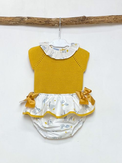Mustard Knitted Top & Safari Bloomers