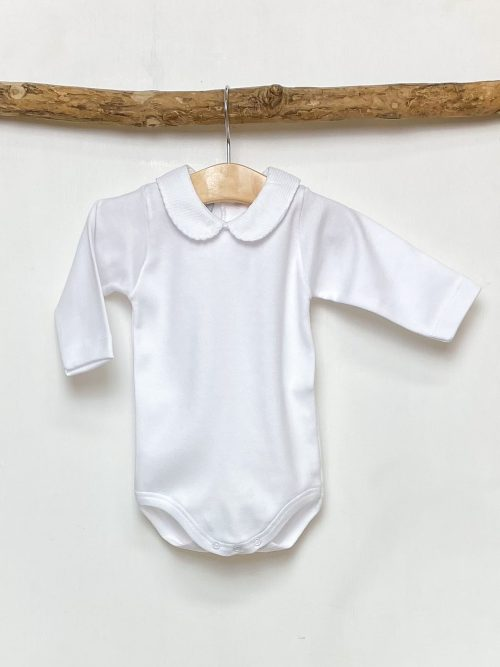 White Trim Peter Pan Bodysuit
