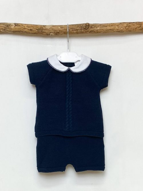 Navy Peter Pan Top & Shorts