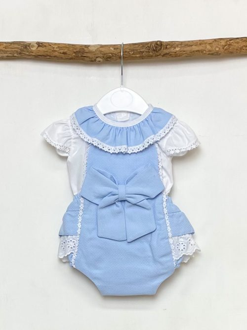 Blouse & Blue Bow Shortie