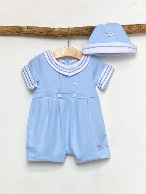 Blue Rocking Horse Shortie Set