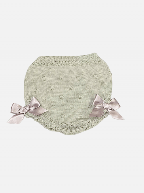 Beige Raised Bow Bloomers